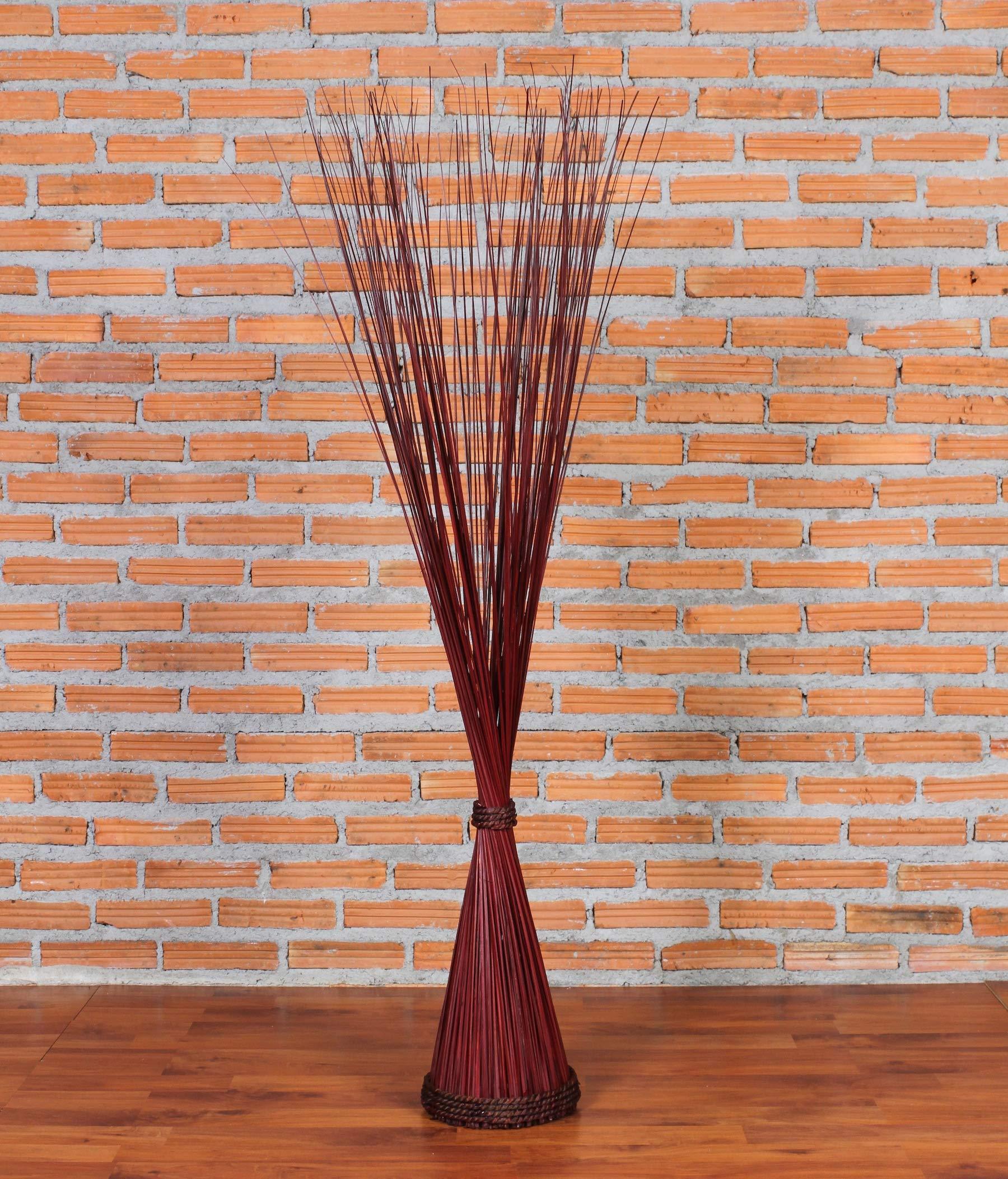 CDM product Leewadee Decorative freestanding Dried Bunch, 47 inches, cogongrass, Brown big image