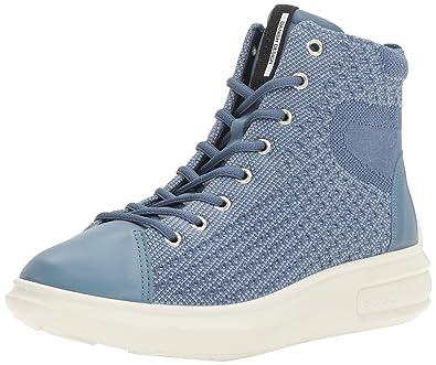 Damen Soft 3 High-Top, Grau (Concrete/CONCRETE56183), 37 EU Ecco