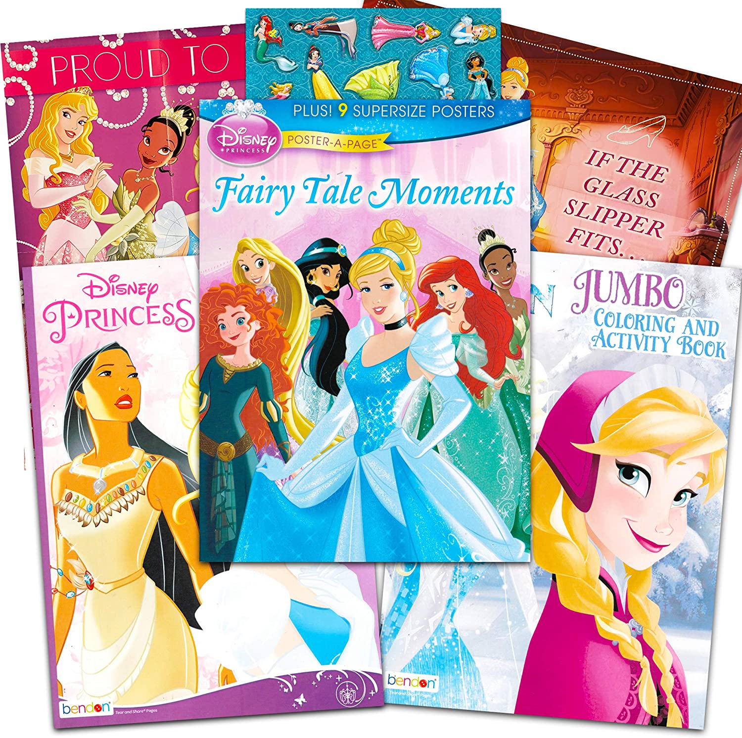 Amazon Com Disney Princess Coloring Activity Books And Posters Super Set Bundle 3 Jumbo Disney Princess Books Filled With Over 120 Page Size Posters 9 Jumbo Posters Games Mazes Puzzles Stickers And More