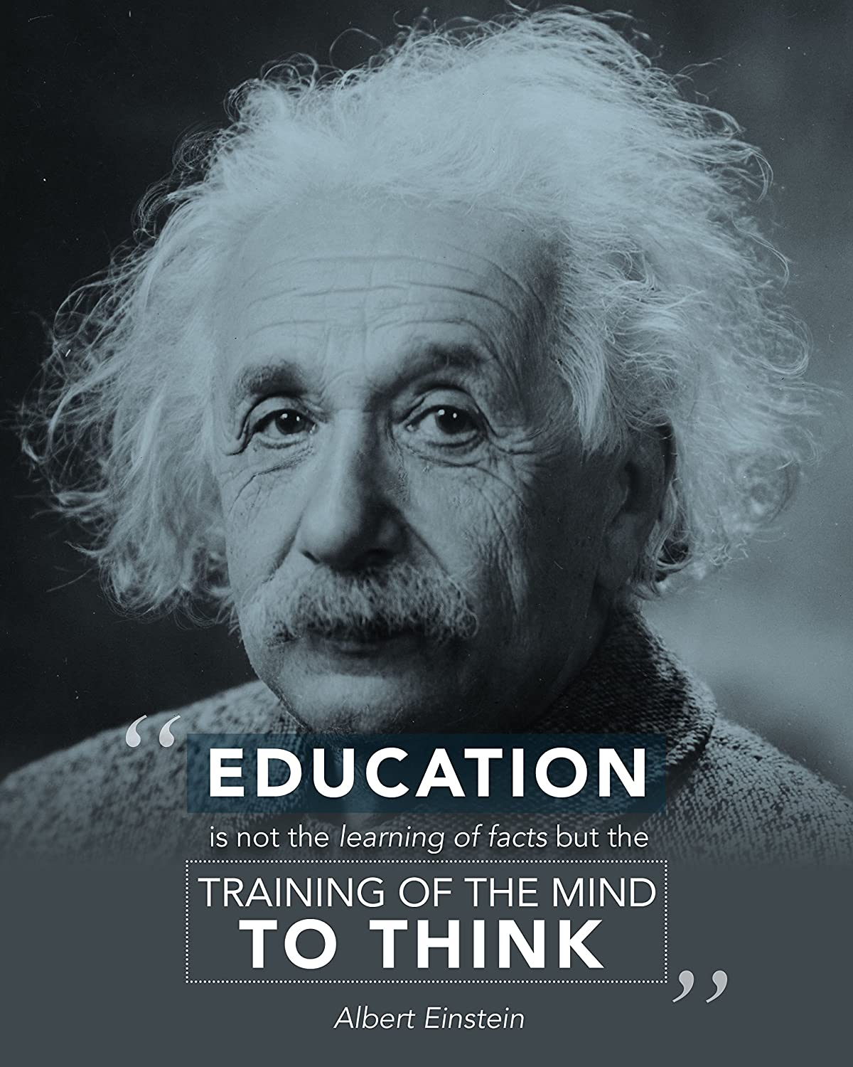 Amazon Com Albert Einstein Quote Education Is Motivational Poster Print Picture Or Framed Wall Art Decor Inspirational Quotes Collection Graduation Holidays 8x10 Unframed Photo Posters Prints