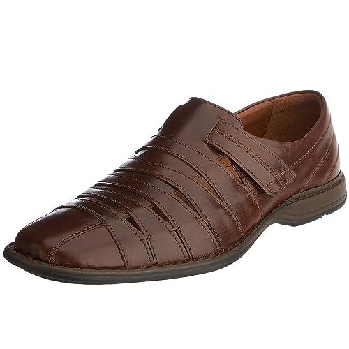 Schuhfabrik GmbH Steven 33200 43220 - Sandalias de cuero para hombre, color marrón, talla 42 Josef Seibel