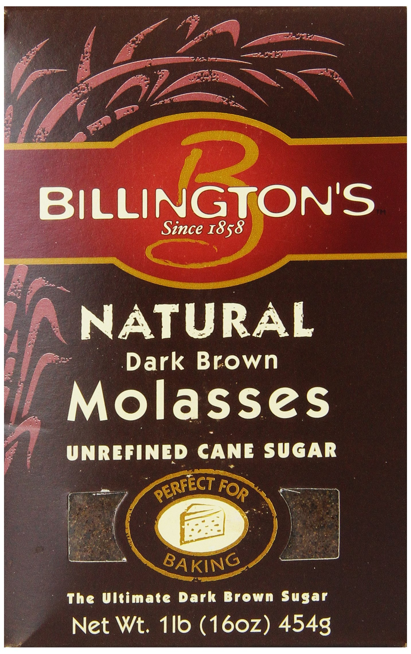 Billington's Natural Dark Brown Molasses, 16 oz. (Pack of 10)