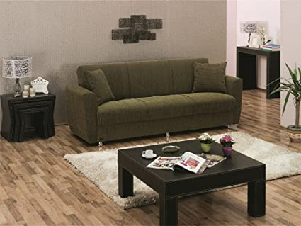 Merveilleux BEYAN Edison Collection Modern Fold Out Convertible Sofa Bed With Storage  Space, Includes 2 Pillows