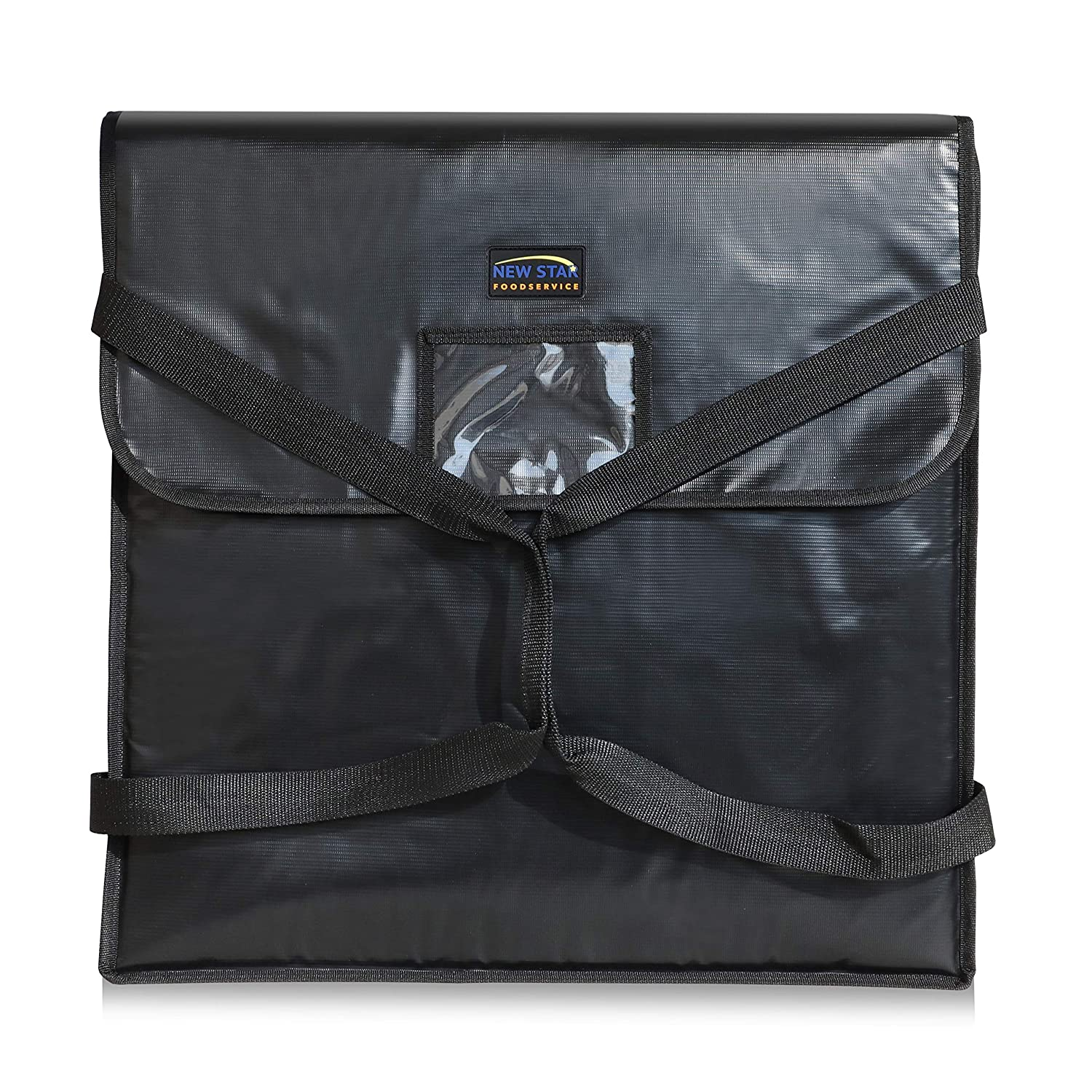 New Star Foodservice 51124 Insulated Pizza Delivery Bag, 22 by 22 by 5-Inch, Black