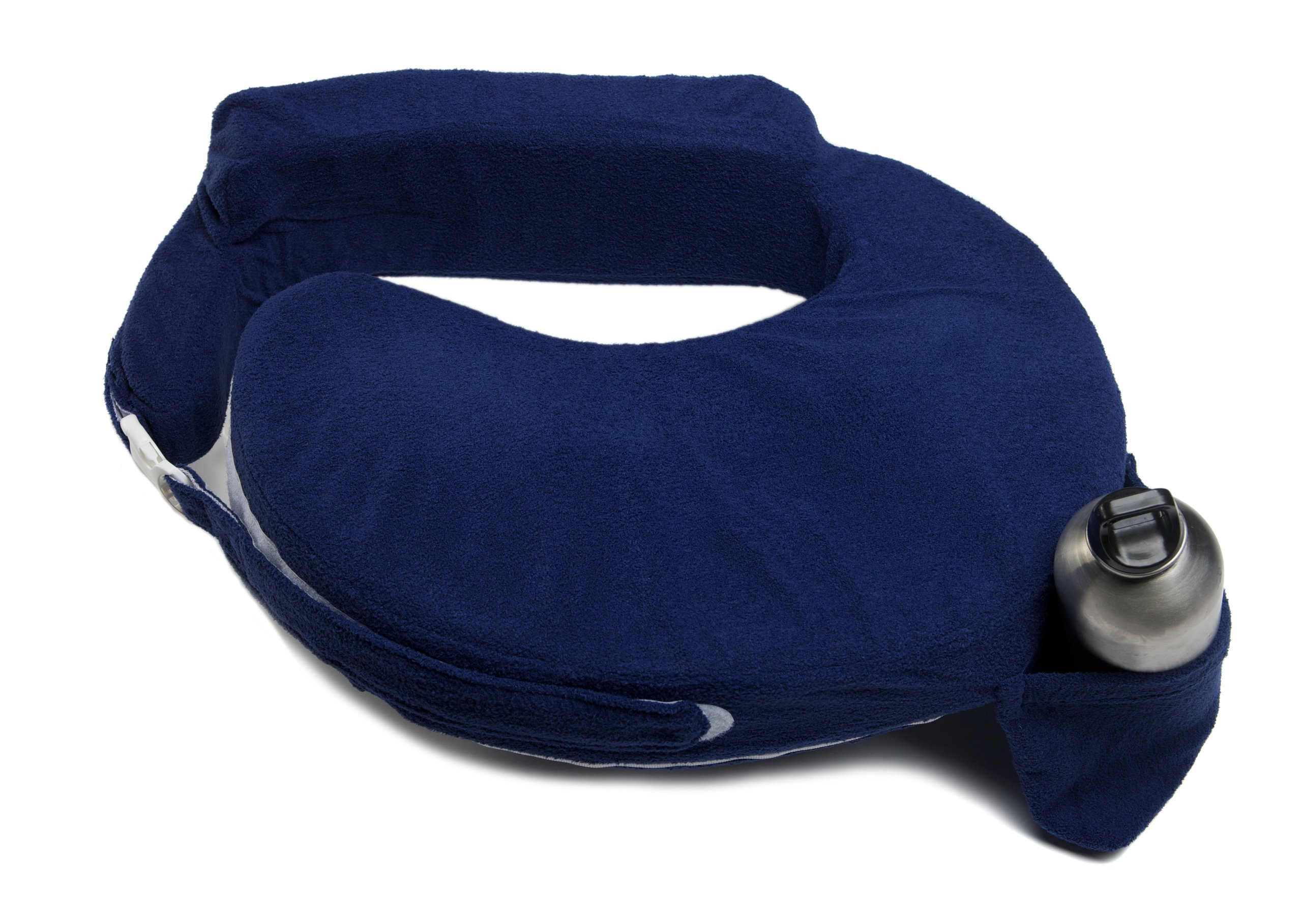 My Brest Friend Nursing Pillow Deluxe Slipcover - Machine Washable Breastfeeding Cushion Cover - Pillow not Included, Navy by My Brest Friend
