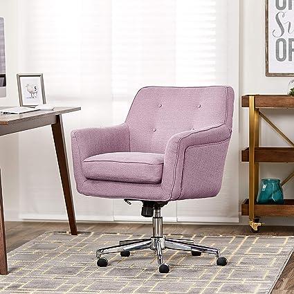 Miraculous Serta Style Ashland Home Office Chair Twill Fabric Lilac Cjindustries Chair Design For Home Cjindustriesco