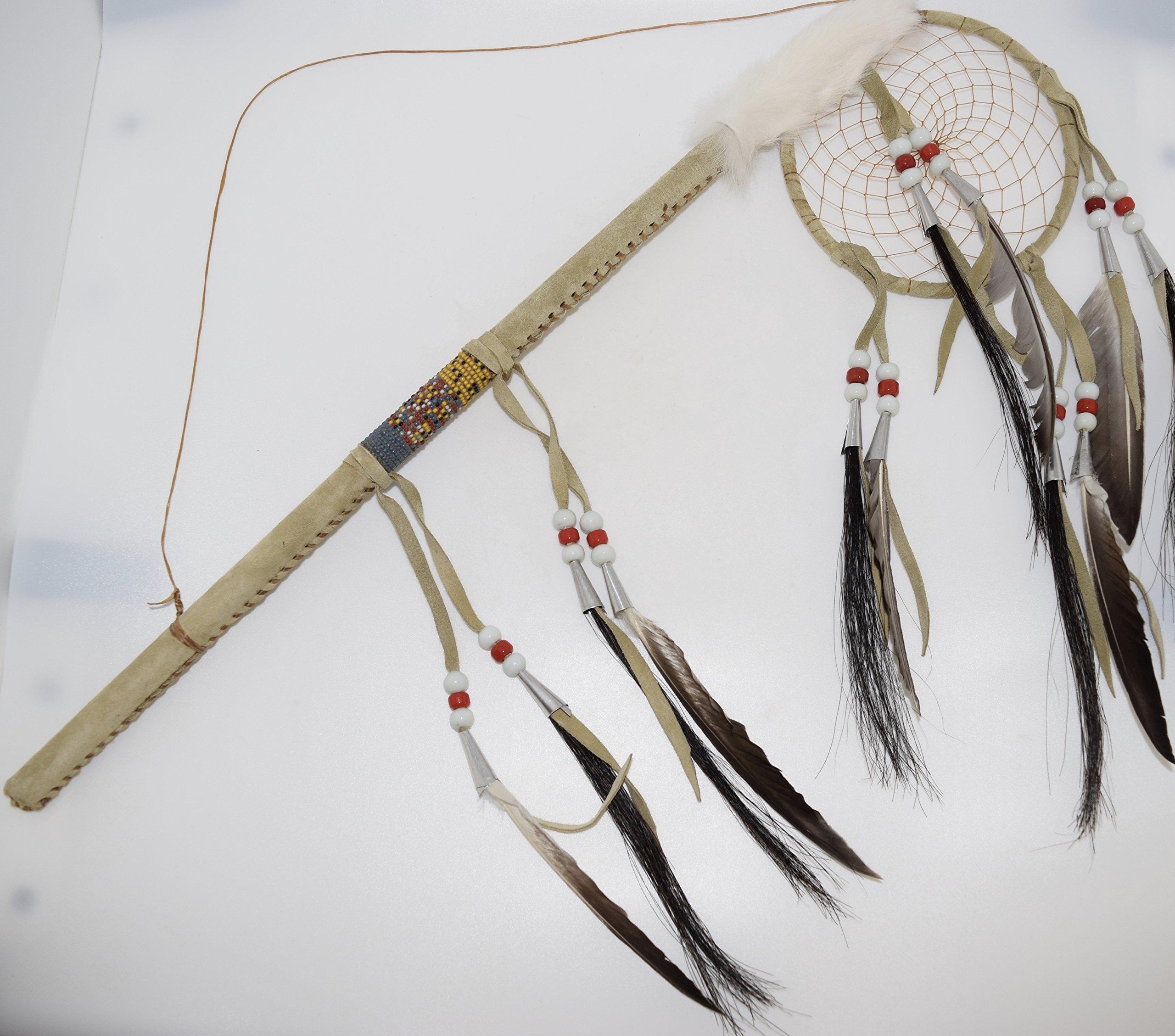 Genuine Handmade Beaded Dreamcatcher Dance Stick Wall Hanging