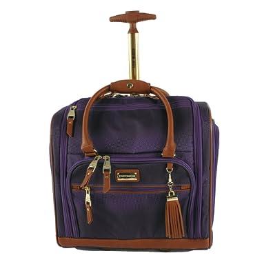 Steve Madden Luggage Wheeled Suitcase Under Seat Bag (Shadow Purple)