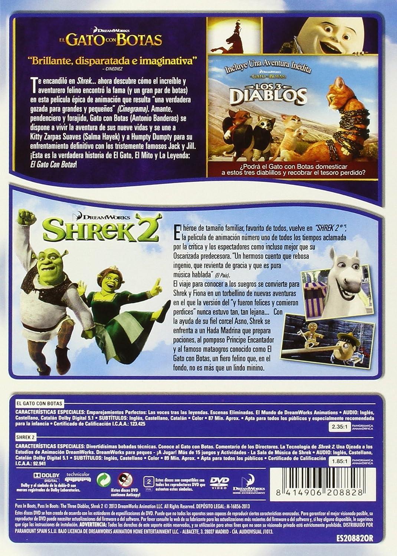 Amazon.com: Pack: El Gato Con Botas + Shrek 2 (Import Movie ...