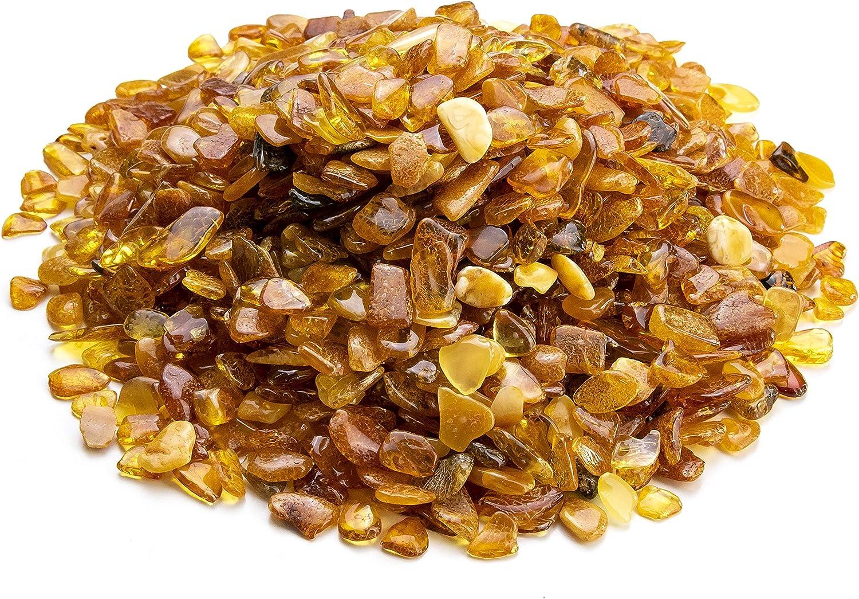 Piedras de ámbar báltico por Amber Culture | Mezcla de colores, natural, ámbar pulido para manualidades, joyería y alivio de pintura (sin agujeros)