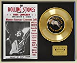 ROLLING STONES Limited Edition Gold 45 Record