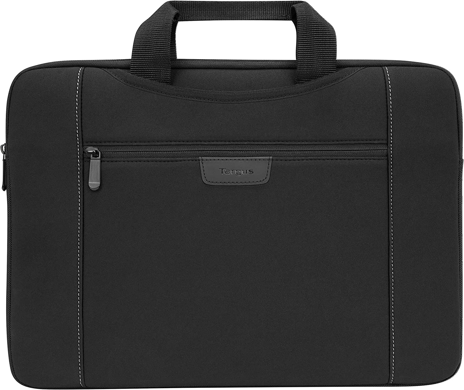 Targus Slipskin Laptop Case with Hideaway Handles, Front Pocket Pouch, Protective Sleeve for 15.6-Inch Laptop, Black (TSS995GL)