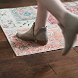 Non Slip Rug Gripper Pads: 8 Reusable Corner Carpet Tape Grippers - Adhesive No Skid Anti Slip Pad for Hardwood or Laminate Floors - Sticky Nonslip Grip Anchors for Never Curl Area Rugs & Runner Edges