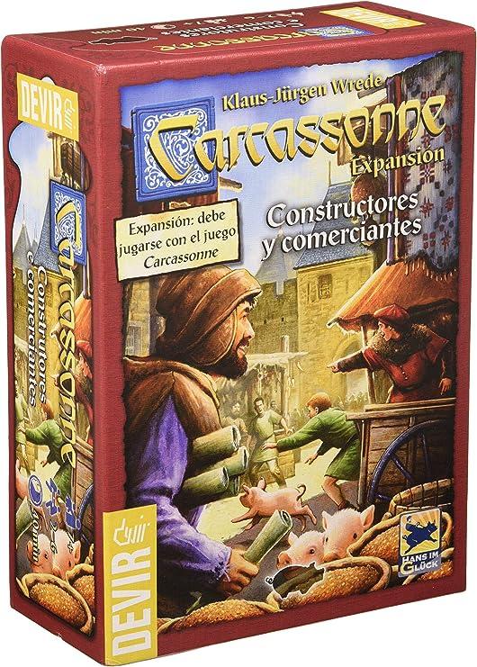 Devir - Carcassonne Constructores y Comerciantes, juego de mesa, 2015 (BGCOMER): Amazon.es: Juguetes y juegos