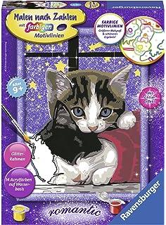 Ravensburger Katze Mit Schmetterling Kinder-Bastelsets Malen Nach Zahlen NEU ZZA