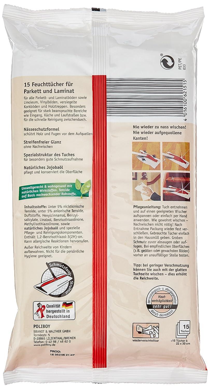 Poliboy Parkett/ Laminat Feuchttücher, 4er Pack (4 X 15 Stück): Amazon.de:  Drogerie U0026 Körperpflege