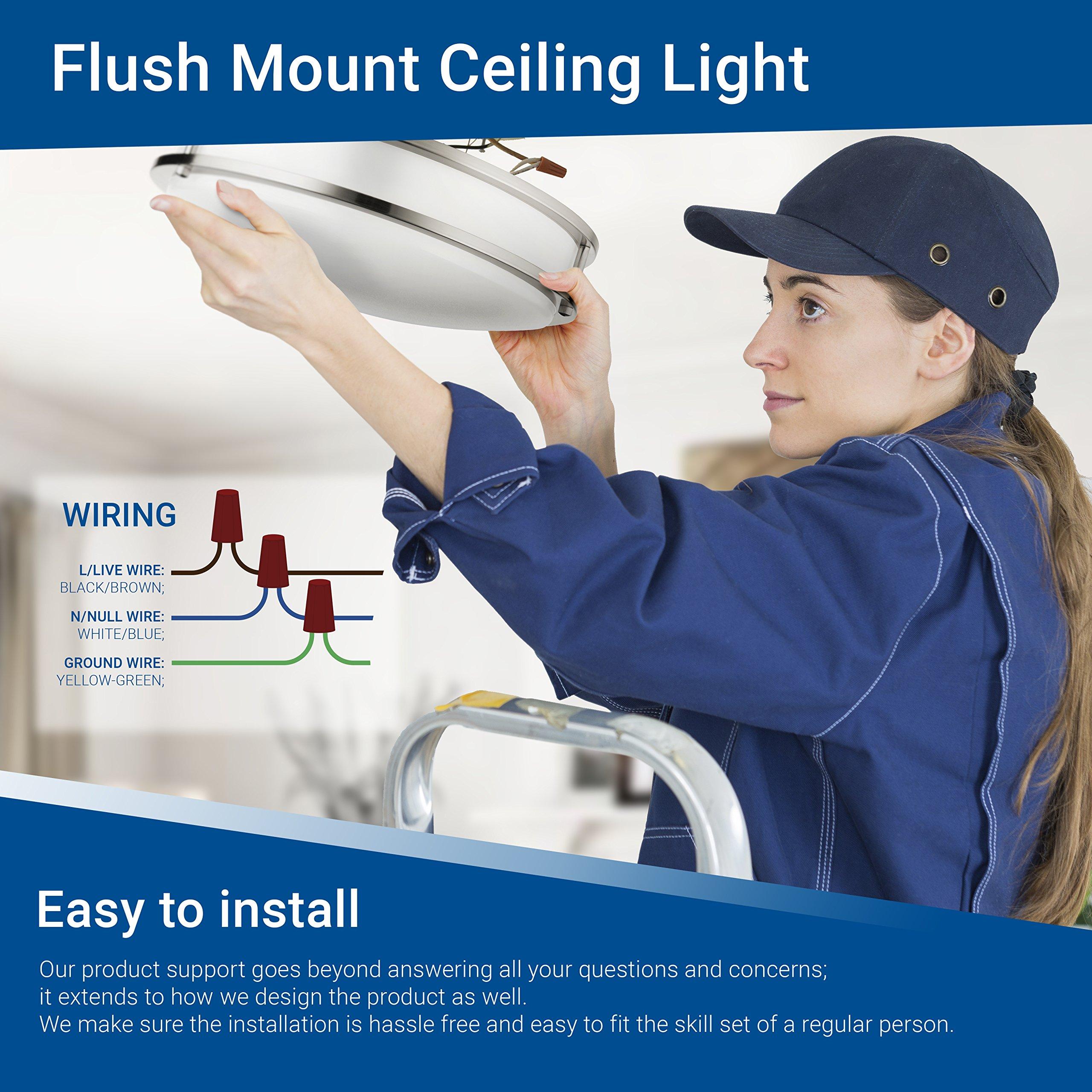 Hyperikon LED Flush Mount Ceiling Light, 14'', 100W equivalent, 1980lm, 4000K (Daylight Glow), 120V, 14-Inch, Dimmable by Hyperikon (Image #8)