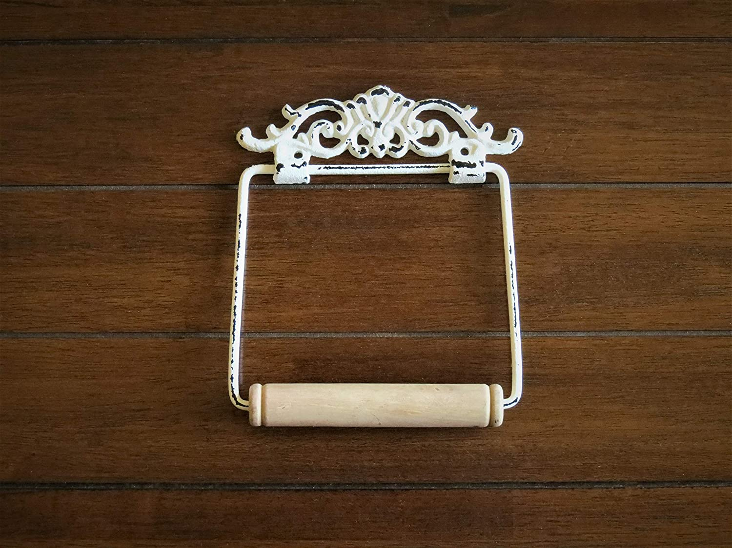 Toilet Paper Holder Antique White or Pick Color Shabby Chic Bathroom Accessories Hand Towel Hanger Scrolled