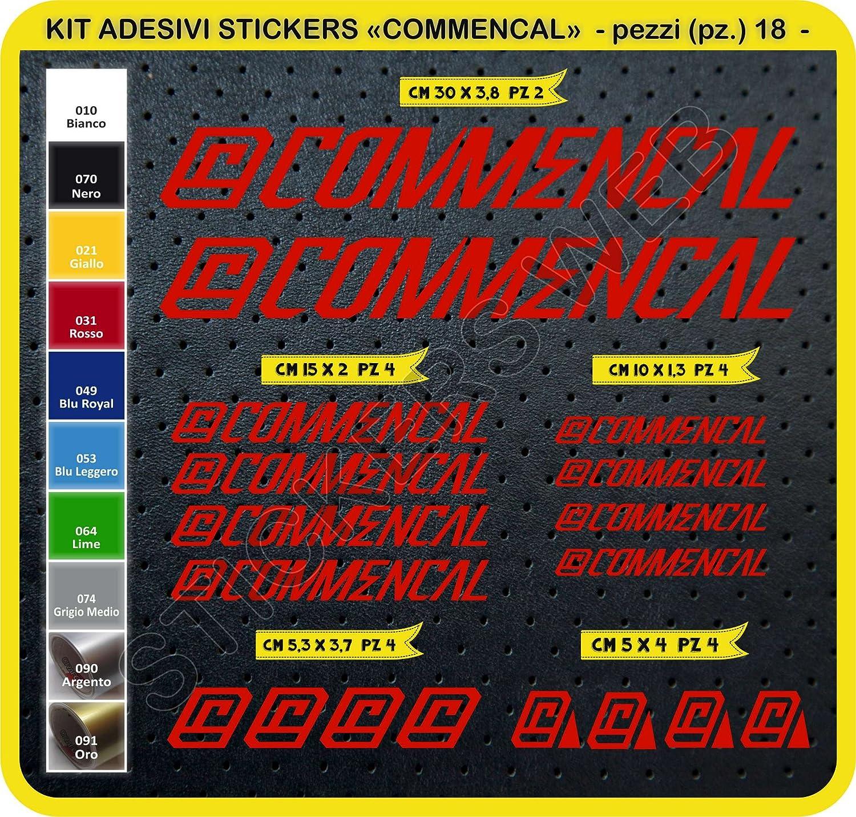0301 - Lot de 18 autocollants pour vélo Commencal, couleur personnalisable
