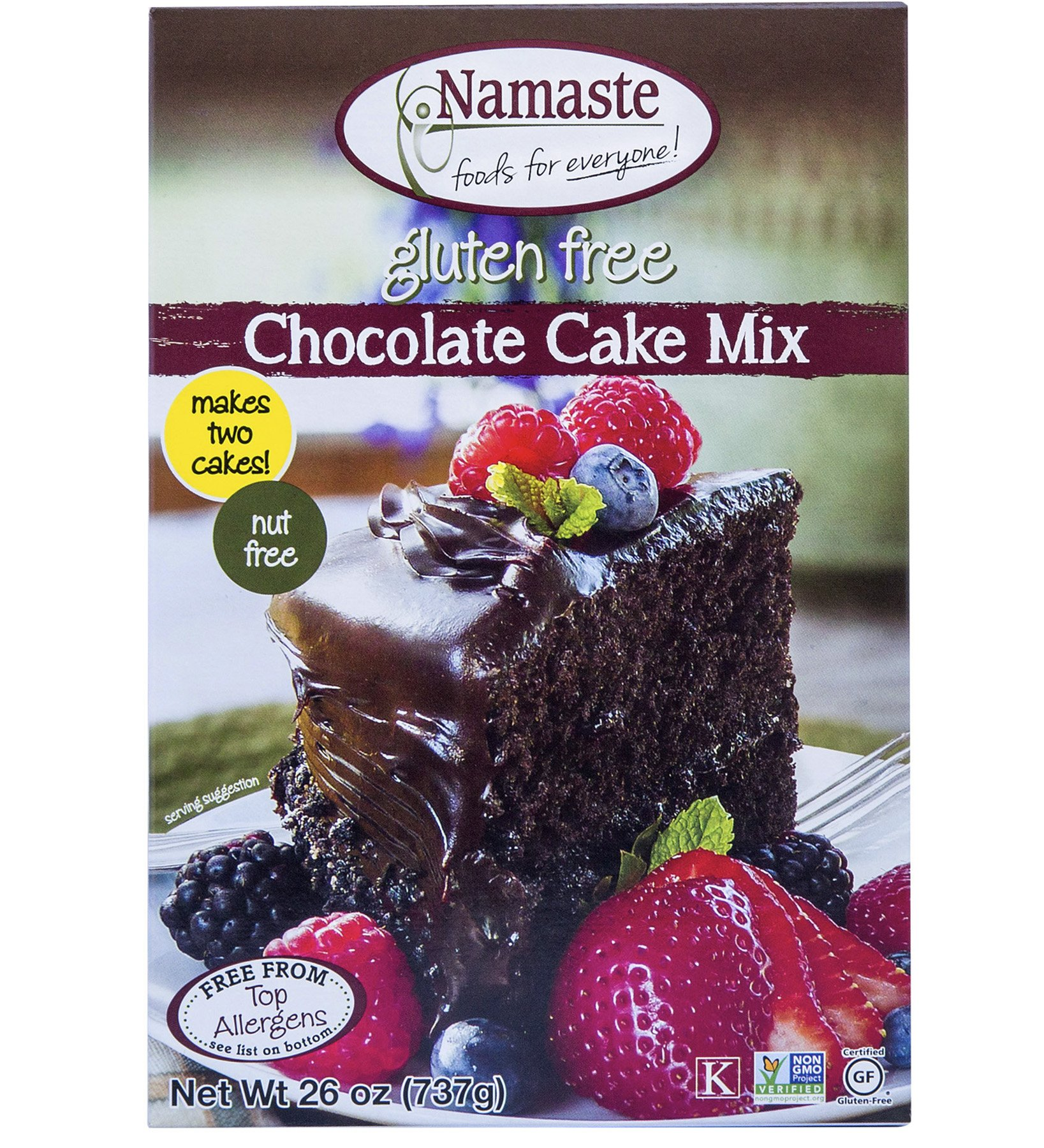 Namaste Foods, Gluten Free Chocolate Cake Mix, 26-Ounce Bags (Pack of 6) by Namaste Foods