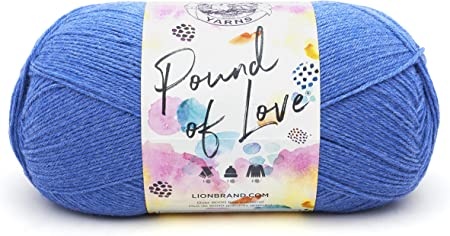 - Lot of 6 Skeins Pastel BLUE 106 Vintage LION BRAND Baby Soft Yarn
