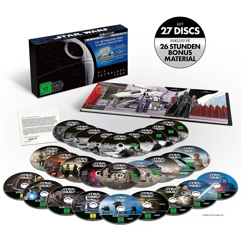 Star Wars 1 - 9 - Die Skywalker Saga 4K, 9 UHD-Blu-ray + 18 Blu-ray: Amazon.es: Cine y Series TV