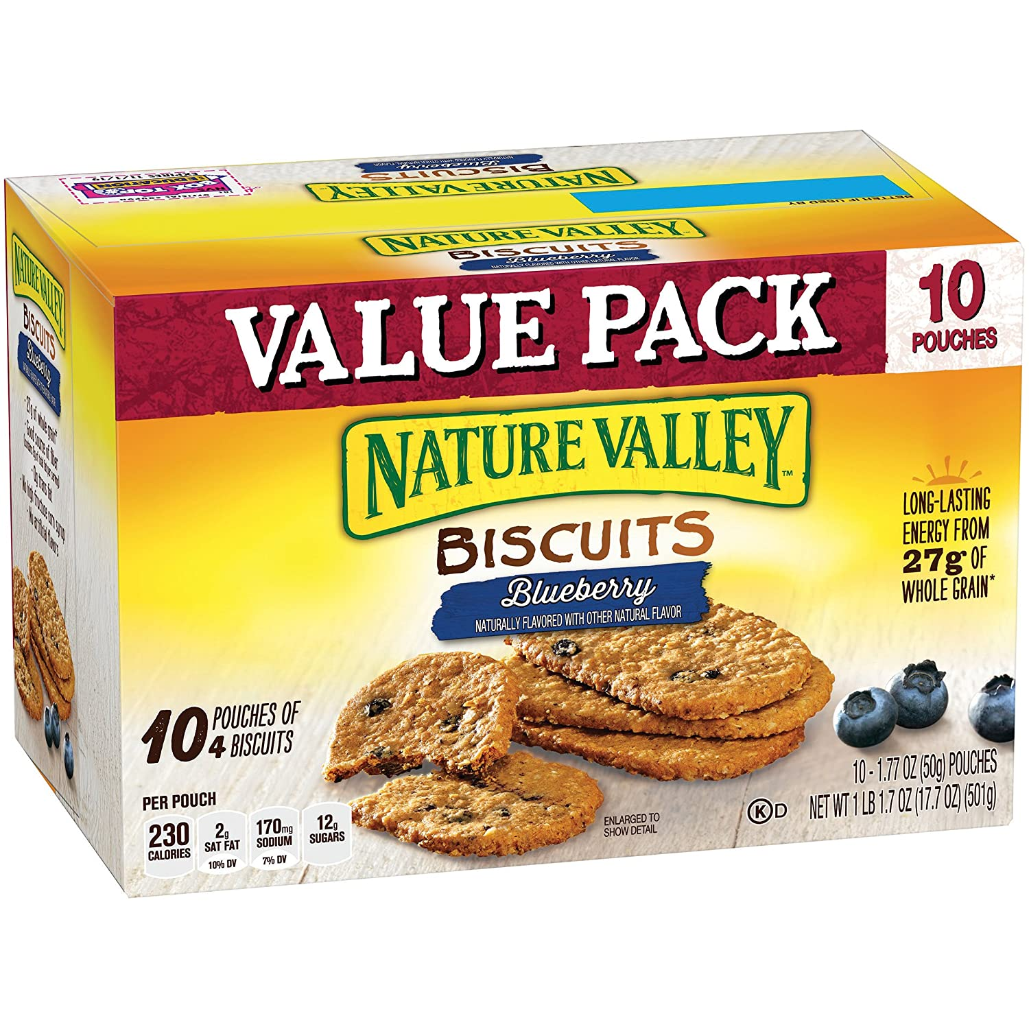 Amazon.com: Nature Valley Breakfast Biscuits, Blueberry, 10 ...