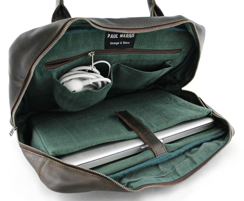 21c589a63c LE MECANOGRAPHE Indus sacoche cuir PC/MAC sac ordinateur 13 pouces PAUL  MARIUS: Amazon.fr: Bagages
