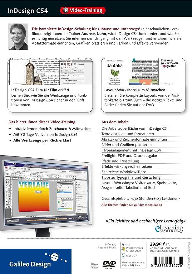 Adobe InDesign CS4. Layouts entwerfen und gestalten. Das Video ...