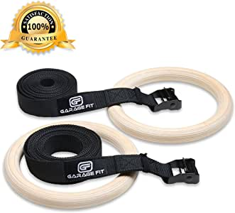 Garage Fit Wood Gym Rings, Wooden Gymnastic Rings, Fitness Rings, Exercise Rings, Gym Ring, Gymnast Rings, Gymnastics Rings