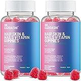 (2-Pack) Hair Vitamins Supplement - Gummy Vitamins w/Biotin, Folic Acid, Vitamin A & D - Supports Faster Hair Growth and…