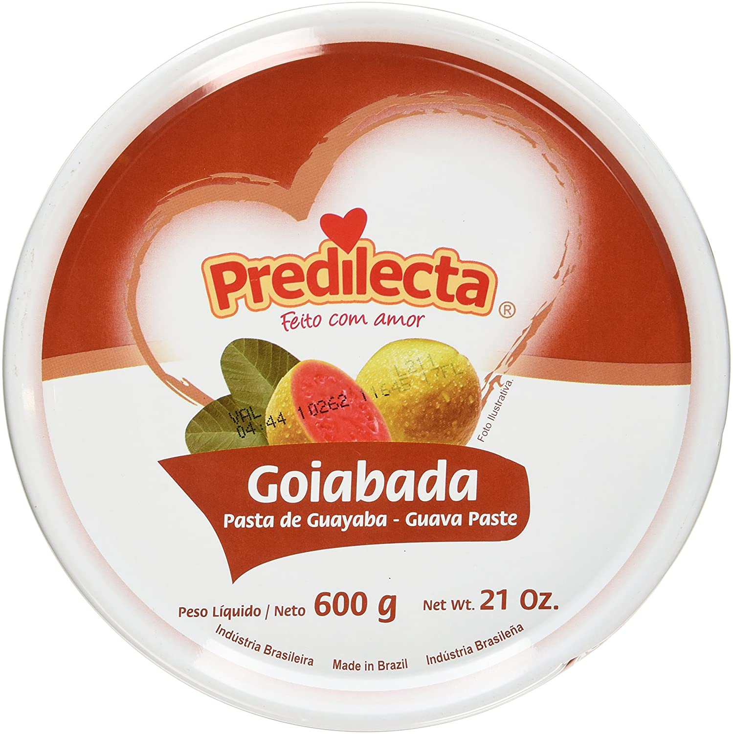 Amazon.com : Predilecta - Goiabada 600g | Guava Paste 21oz - Made in Brazil : Fruitcakes : Grocery & Gourmet Food