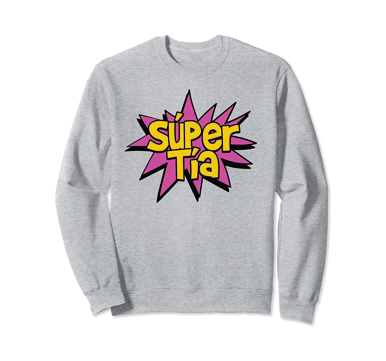 Amazon.com: Super Auntie - Spanish Tia Titi Superhero Comic Sweatshirt: Clothing