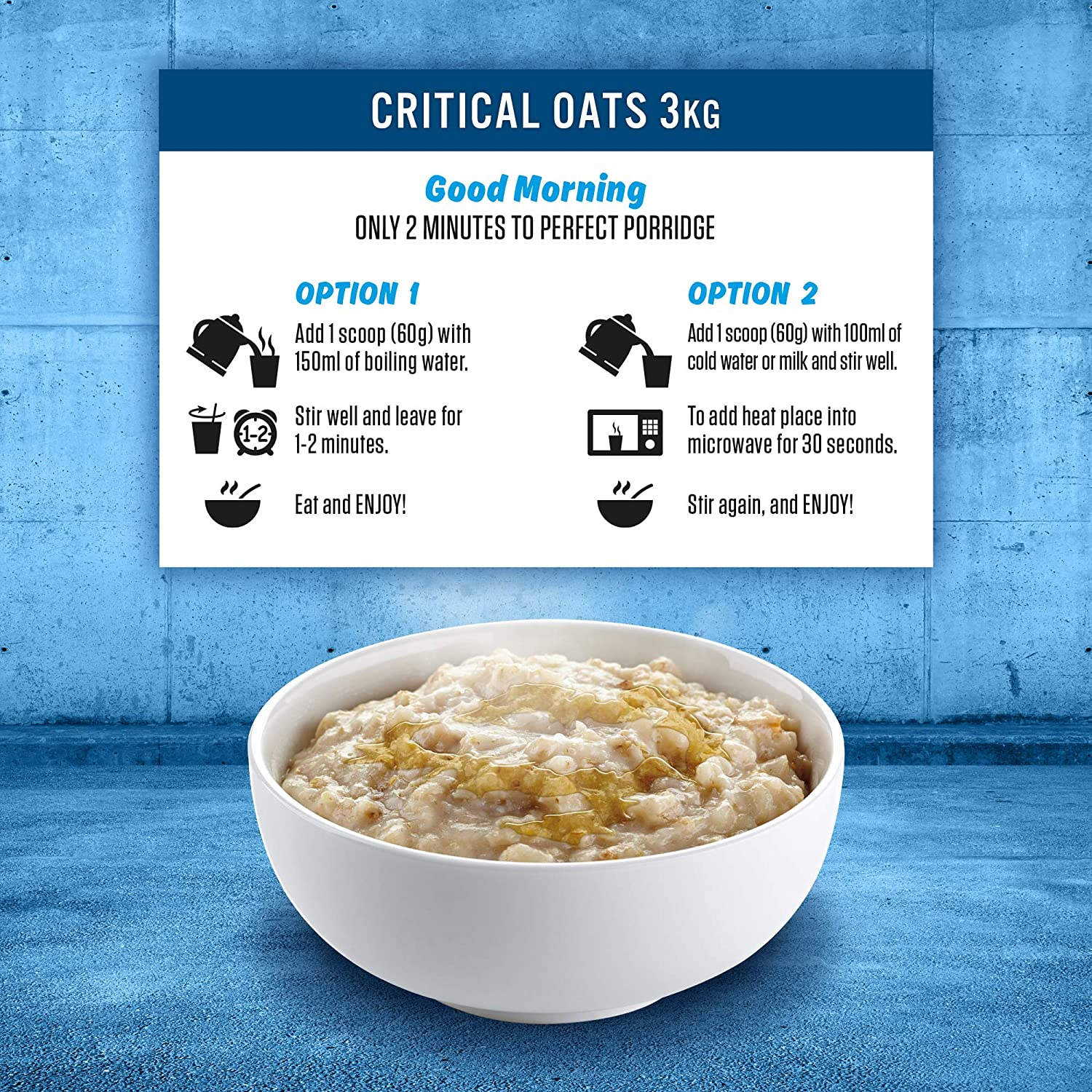 Applied Nutrition Critical Oats Protein Porridge Wholegrain Oats High Protein Including ISO-XP Protein Isolate Breakfast Snack Food Supplement 3kg - 50 Servings (Chocolate): Amazon.co.uk: Health & Personal Care