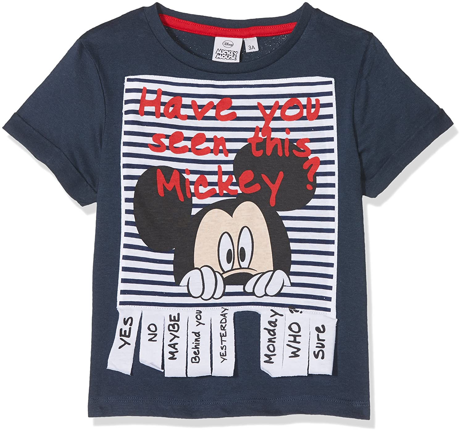 Mickey Mouse Have You Seen This Mickey, T-Shirt Bambino ER1427