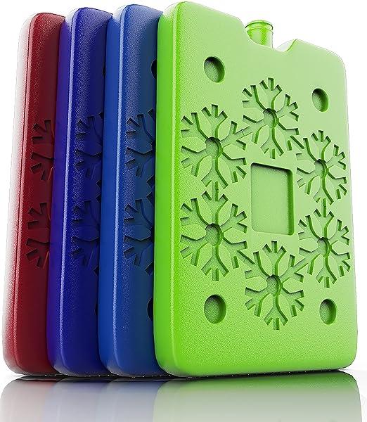 REUSABLE ICE PACK Gel Lunch Bag Picnic Drinks Cooler Freezer Pack Travel Cold