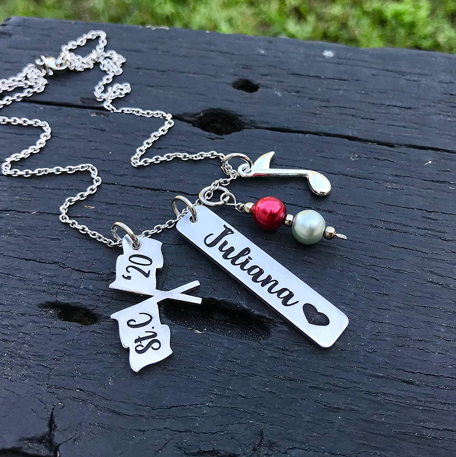 Color guard Necklace colorguard Charm Necklace chain jewelry best present gift
