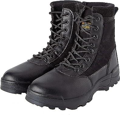 MK - Botas militares de seguridad para hombre, calzado táctico ...