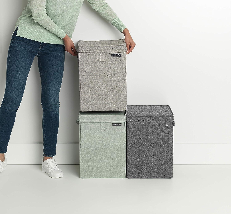 35L Grey Stapelbare W/äschebox Kunststoff Brabantia