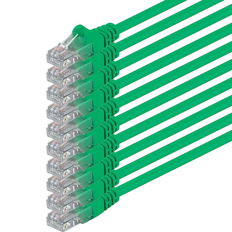 2m - Verde - 10 Piezas - Cable de Red Ethernet con Conectores RJ45 ...