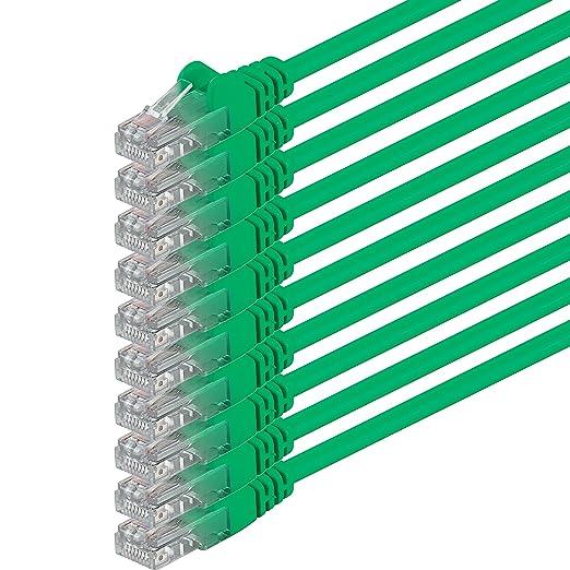 20 opinioni per 0,25m- verde- 10 pezzi- Rete Cavi Cat6 CAT 6 | 250MHz | non contiene alogeni |