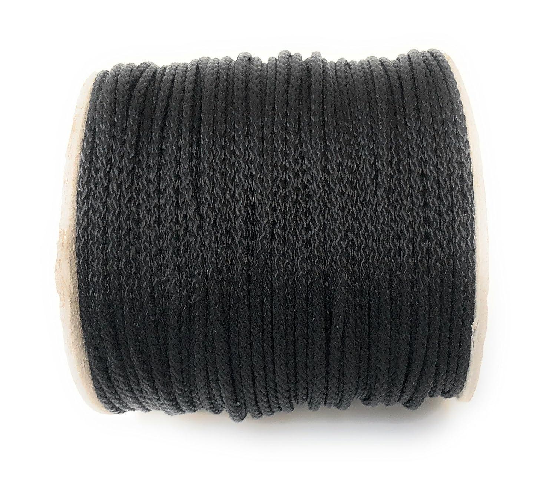 Cuerda de polipropileno (\ PP cuerda \ 3 mm rollo de 50 m cuerda cuerda trenzada cuerda de polipropileno (rocí o amarre de Universal cuerda cuerda cordó n (Negro) ArtPS