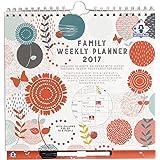 Organised Mum - Family Weekly Planner/Organiseur Familial Hebdomadaire Mural 2017 (Anglais). Avec 6 Colonnes. 1 semaine par Page. Dès maintenant à Décembre 2017. Fonctionnel et Pratique.