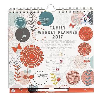 2017 organised mum family weekly planner calendar week to view