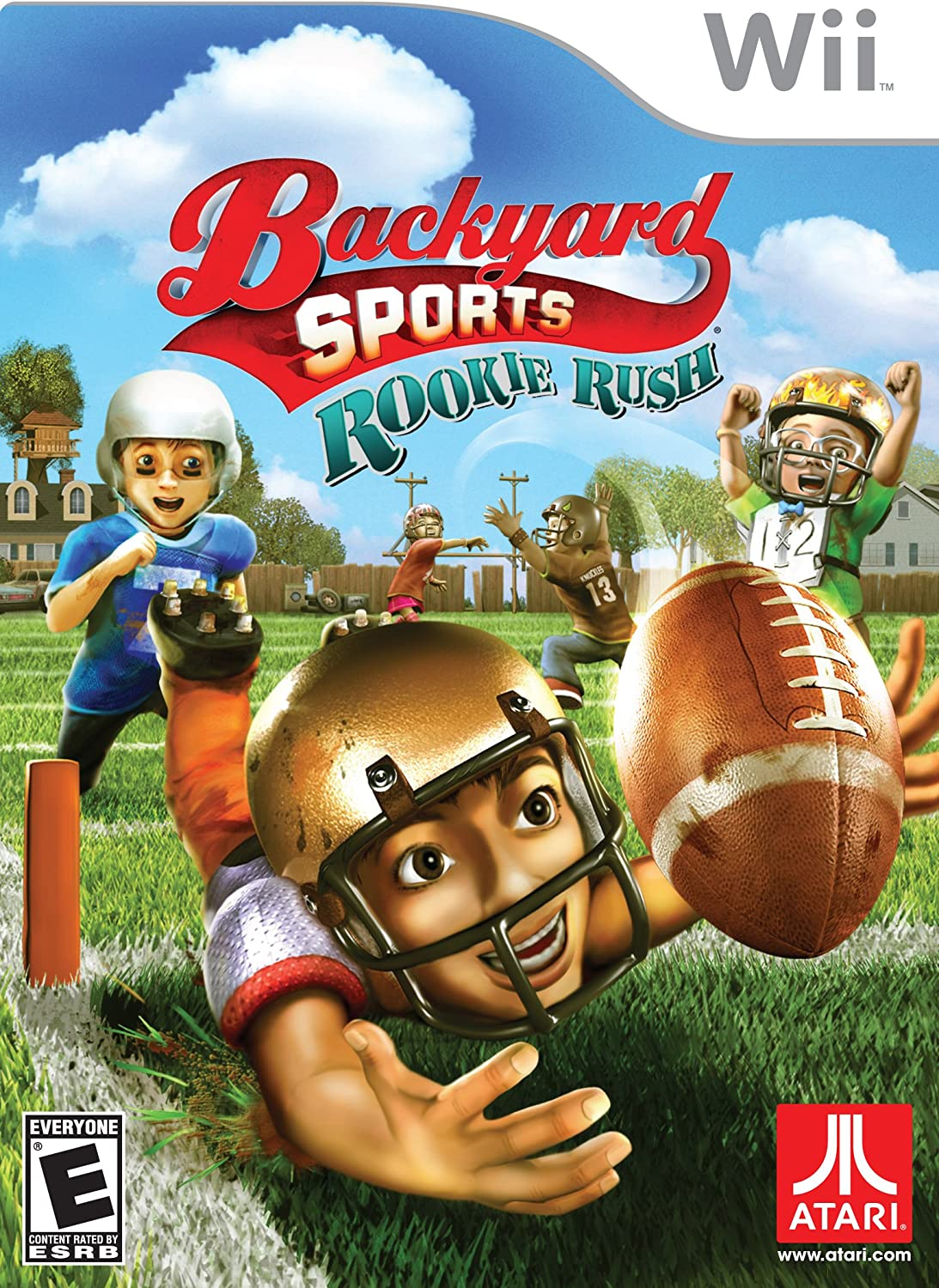 amazon com backyard sports football rookie rush nintendo wii