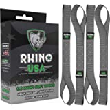 Rhino USA Soft Loop Motorcycle Tie-Down Straps (4PK) - 10,427lb Max Break Strength 1.7' x 17' Heavy-Duty Tie Downs for…