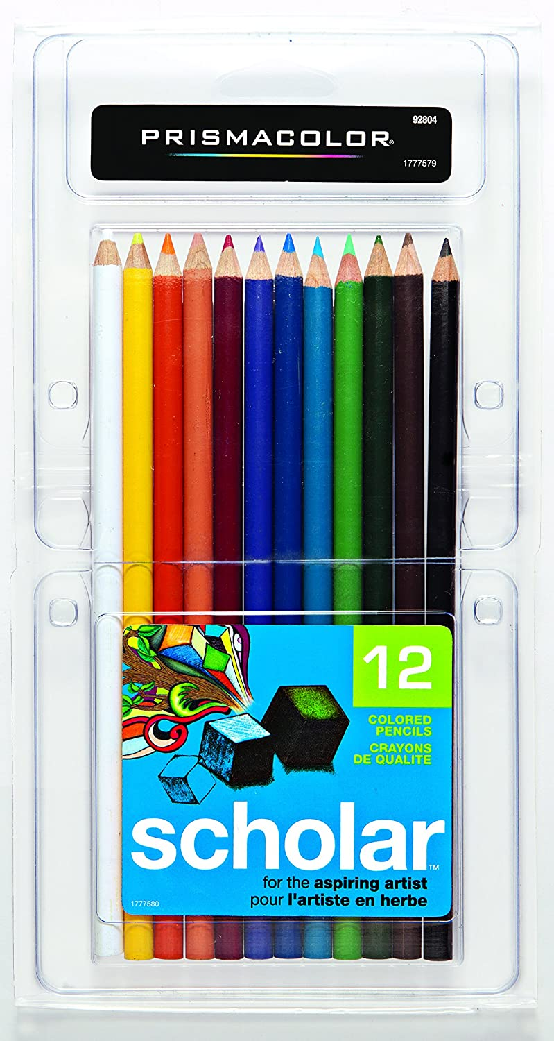 PRISMACOLOR Scholar Pencil, Art Pencils, Box of 12, Assorted Colours (92804) Sanford