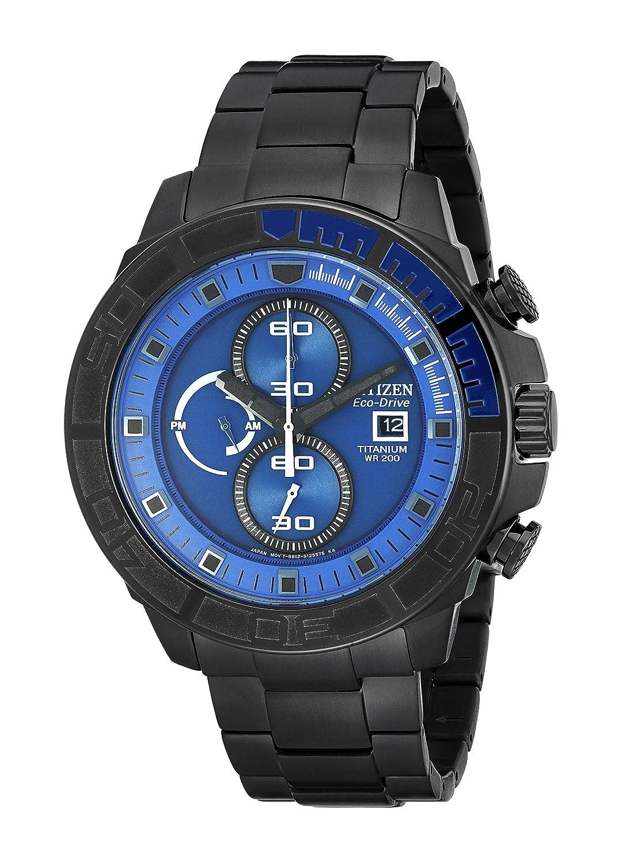 67c3aa5a9 Amazon.com: Citizen Men's CA0525-50L Eco-Drive Super Titanium Blue Dial  Watch: Watches
