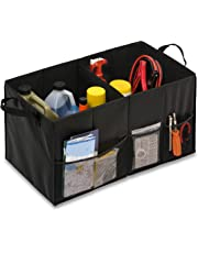 Honey-Can-Do Organizador Plegable para Maletero de Coche, Color Negro