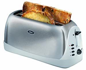 Oster Inspire 4-Slice Toaster, Brushed Stainless Steel